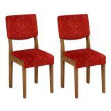 Conjunto 2 Cadeiras Diamantina Ype Com Floral Vinho