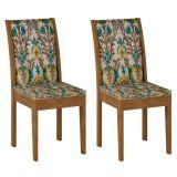 Conjunto 2 Cadeiras Laguna Ypê E Suede Medalhao