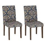 Conjunto 2 Cadeiras Paraty Wengue Com Imperial Azul
