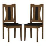 Kit com 2 Cadeiras Ipê Ébano & Preto Viva Rufato