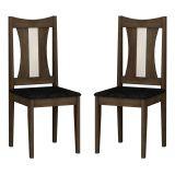 Kit com 2 Cadeiras Wengue Carvalho & Imperial Preto Viva Rufato