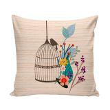 Capa Para Almofada 45x45 Cm Bird Out Cage 1