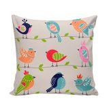 Capa Para Almofada 45x45 Cm Cute Birds