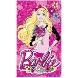 Toalha de Banho Estampada 100% Algodão Barbie Flower - Santista