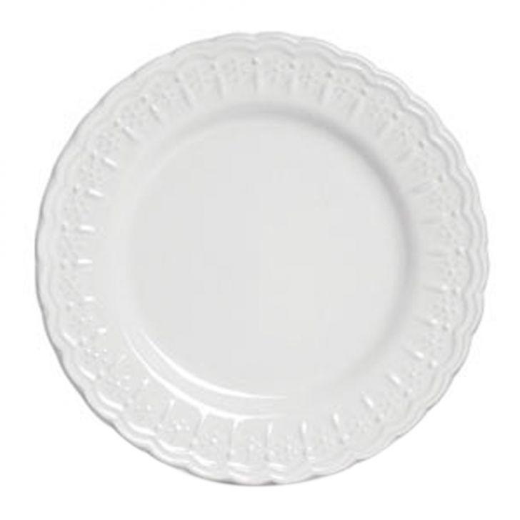 Prato Sobremesa Nobre 6 pçs Branco