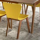 Cadeira Primer - Base com Acabamento Verniz Poliuretano - Madeira Lyptus - Sunset/ Amarelo