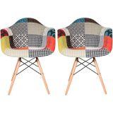 Conjunto 2 Cadeiras Eiffel Eames DAW PatchWork