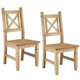 Conjunto com 2 Cadeiras Rústica Country Madeira Maciça Dioudi