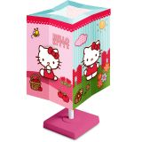 Abajur Quadrado Floral Hello Kitty 110V