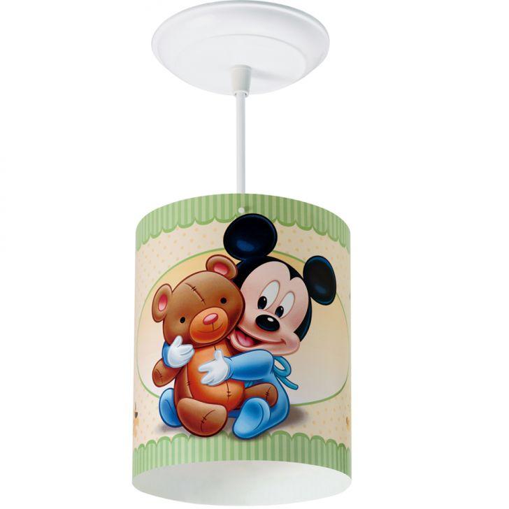 Pendente Cilíndrico Mickey Baby