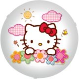 Plafon Redondo Floral Hello Kitty