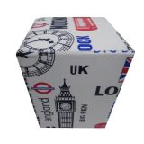 Puff Cubo Big Ben Corino Estampado Stay Puff