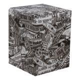 Puff Quadrado Cubo Pop Couro Sintético Americano Stay Puff
