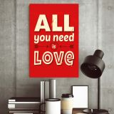 Placa Decorativa Vintage Love 194 60X40