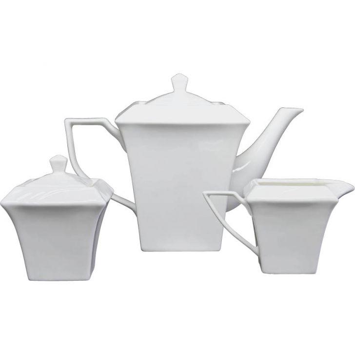 Jogo Porcelana Chá e Café 3 pçs Porcelana