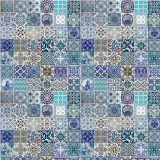 Adesivo De Parede Azulejos Portugueses  122X91 Azul Stixx