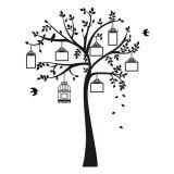 Adesivo De Parede Árvore Pequenas Memórias 148X205 Preto Stixx