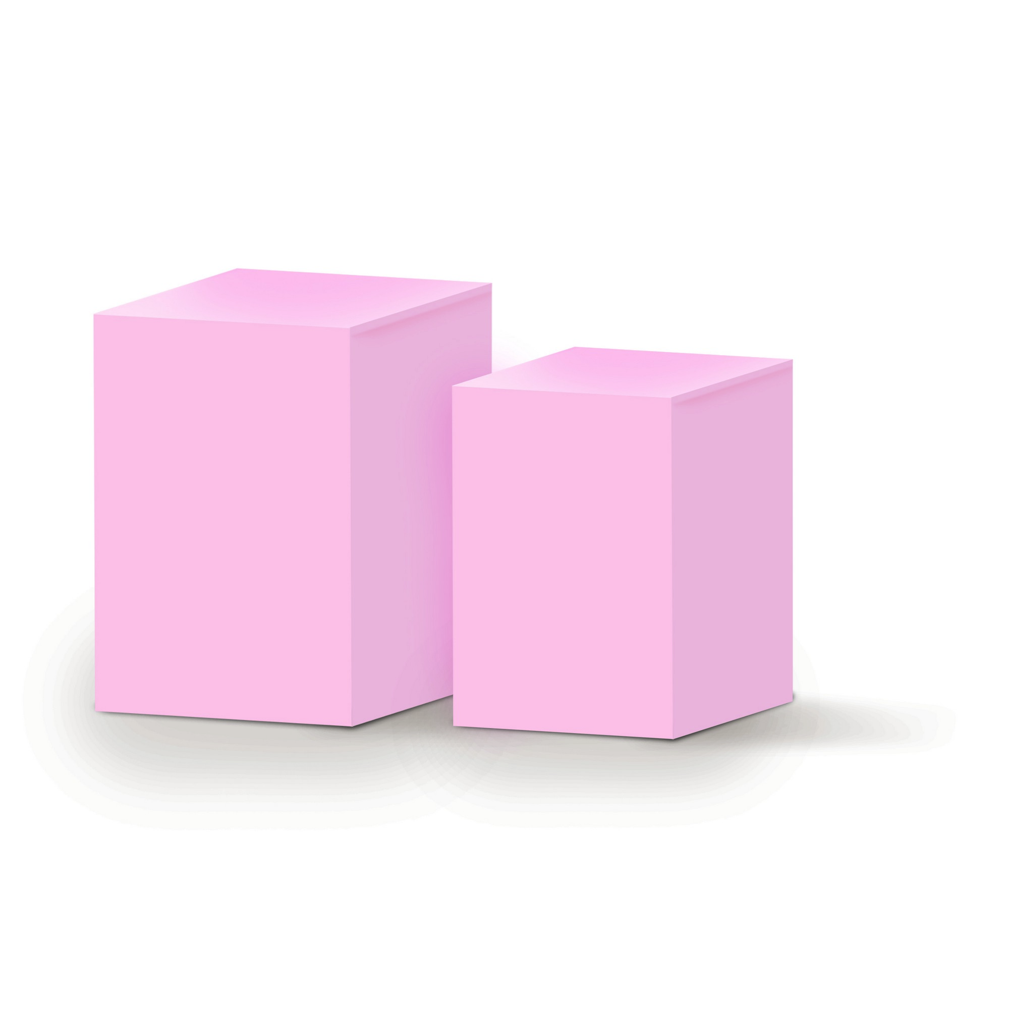 conjunto mesas laterais de cubos 2 pe as 50 x 70 cm rosa r 619 90 em mercado livre. Black Bedroom Furniture Sets. Home Design Ideas