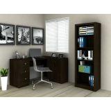 Conjunto Home Office Mesa e Armrio Tecno Mobili - Tabaco