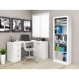 Conjunto Home Office Mesa e Armário Tecno Mobili - Branco