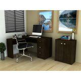 Conjunto Home Office Tecno Mobili - Tabaco