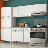 Cozinha Compacta Esmeralda 8020211 Portas Branco Telasul