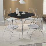 Mesa de Cozinha Quadrada 1504 Preta