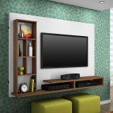 Painel Para TV Home Ferrari Branco e Amendoa