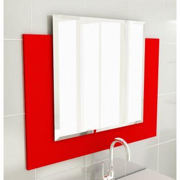 Espelheira 25 Para Banherio 80 cm Vermelho Tomdo Espelheira p / Banherio