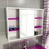 Espelheira de Banheiro 22 Retangular 80 cm Branco & Violeta
