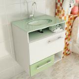 Gabinete Linea 17 – 60 cm 1 Porta 1 Gaveta Branco & Verde Tomdo