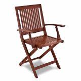 Cadeira Fitt Dobrável com Braço Natural