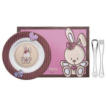 Jogo Porcelana Para Criança 4 Peças Le Petit Feminino Tramontina Tramontina 64250685