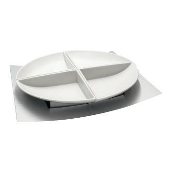 Jogo Porcelana Para Petiscos 5 Peças Tramontina Tramontina 64380030