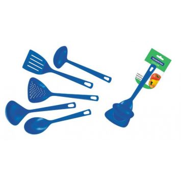 Jogo de Utensílios Utilit Azul 5 pçs Tramontina Utilit