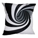 Almofada Abstrato Espiral Preto & Branco 42x42cm Uniart
