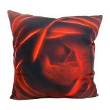Almofada Impressão Digital Rosa Vermelho 42x42cm Uniart