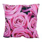 Almofada Impressão Digital Rosas Rosa 42x42cm Uniart