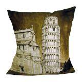 Almofada Impressão Digital Torre de Pisa 42x42