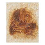 Quadro Artesanal Abstrato 40x50 Colorido Uniart