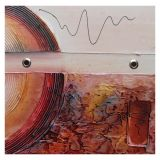 Quadro Artesanal com Textura Abstrato II Colorido 30x30cm Uniart