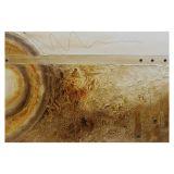 Quadro Artesanal com Textura Abstrato Marrom 70x100 Uniart