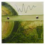 Quadro Artesanal com Textura Abstrato Verde 30x30cm Uniart