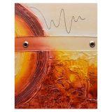 Quadro Artesanal com Textura Abstrato Vermelho 40x50cm Uniart