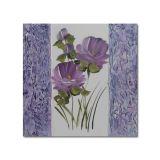 Quadro Artesanal com Textura Rosa Lilás 30x30 Uniart
