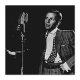 Quadro Frank Sinatra Uniart Preto & Branco 45x45cm