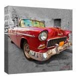 Quadro Impressão Digital Carro Grande Vermelho 30x30cm Uniart
