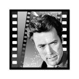 Quadro Impressão Digital Clint Eastwood Preto e Branco 45x45 Uniart