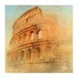Quadro Impressão Digital Coliseu I 45x45