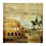 Quadro Impressão Digital Coliseu II 30x30